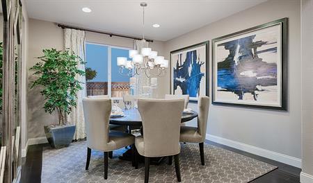 Dining room of the Caroline floor plan