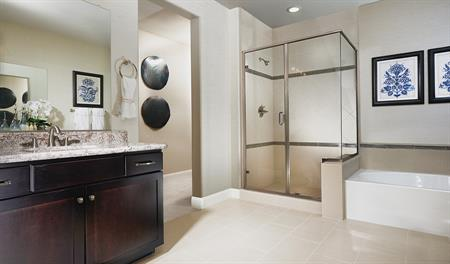 Master bathroom of the Caroline floor plan