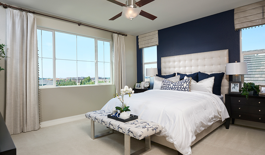 Master bedroom of the Caroline floor plan