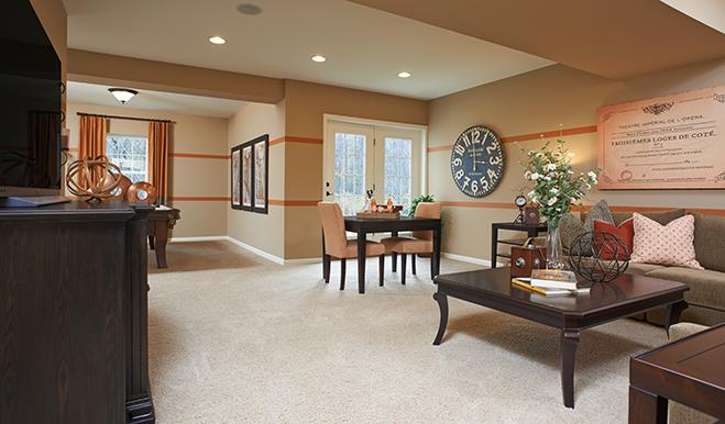 Basement in Charlotte model home