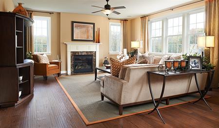 Family room in Charlotte model home