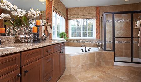 Charlotte model home master bathroom