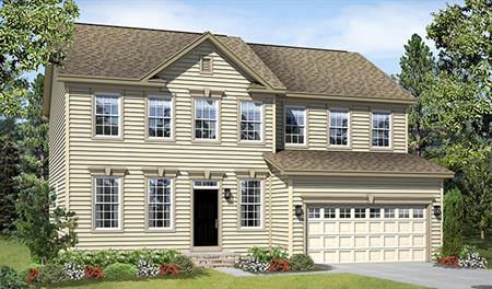New home exterior A of the Charlotte floor plan