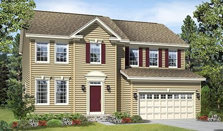 New home exterior B of the Charlotte floor plan