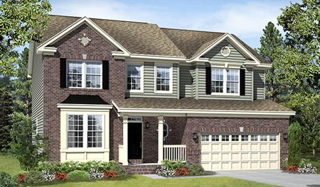 New home exterior D of the Charlotte floor plan