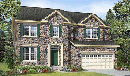 New home exterior F of the Charlotte floor plan