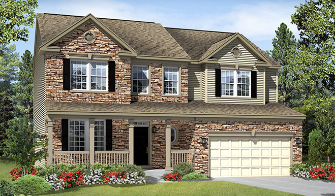 Elevation G of Charlotte floor plan