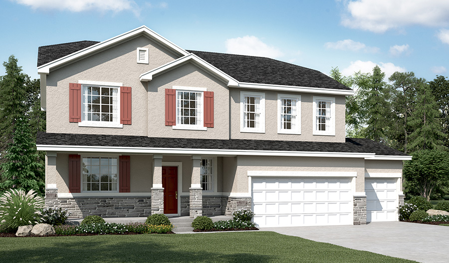 Exterior A of the Charlotte floor plan in the Ironwood community