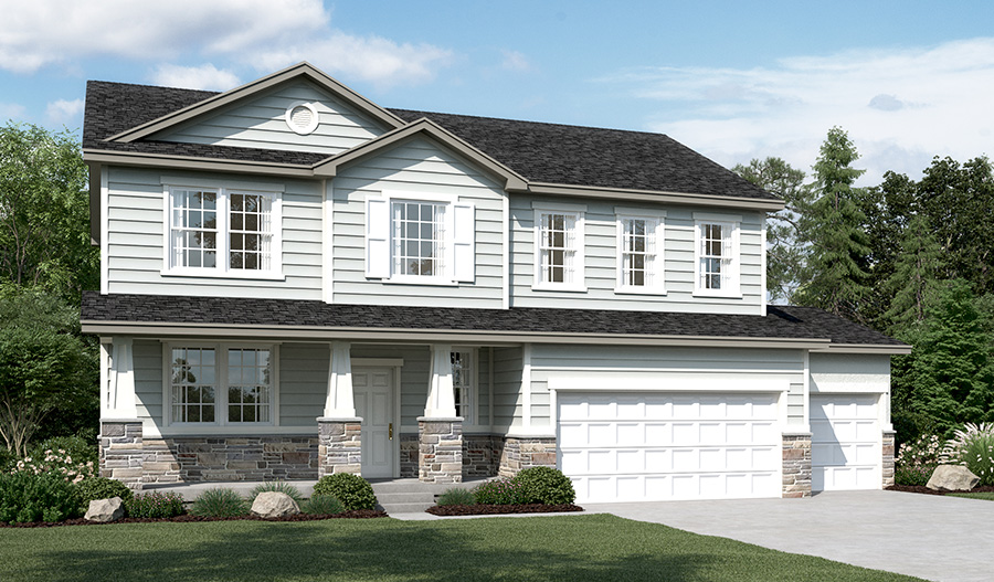 Exterior B of the Charlotte floor plan in the Ironwood community