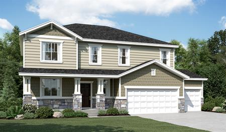Exterior C of the Charlotte floor plan in the Ironwood community