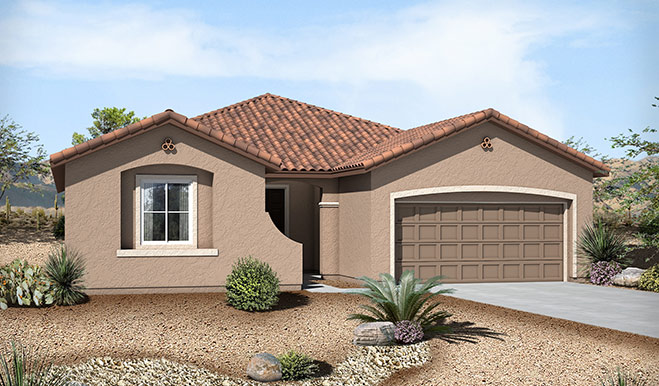 Exterior A of the Claudia floor plan in the Westview Pointe community