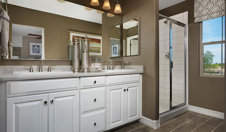 Master bathroom in the Coral floor plan