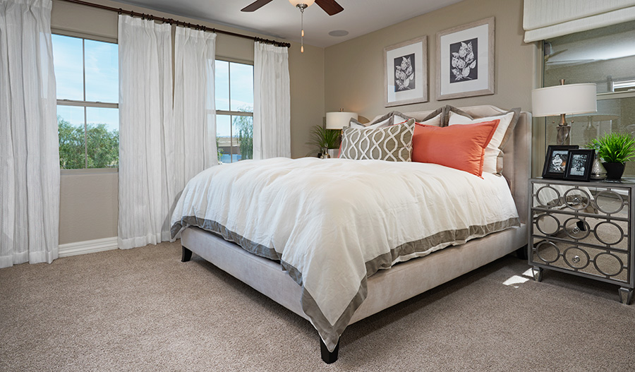 Master bedroom in the Coral floor plan