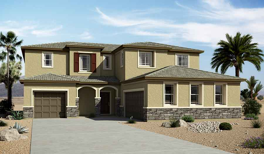 Exterior C of the Daley floor plan in the Granite Falls community
