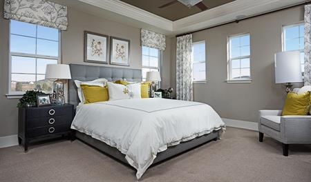 Master bedroom in the Dallas floor plan