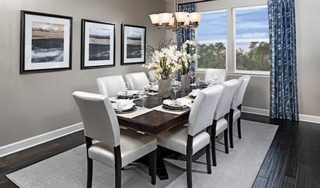 Dining room in the Dalton floor plan