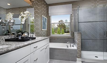 Master bathroom in the Dalton floor plan