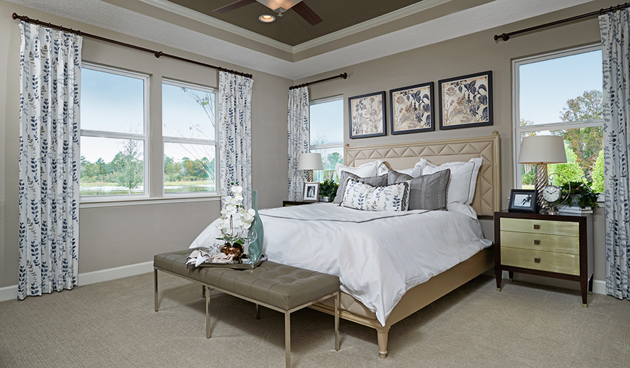 Master bedroom in the Dalton floor plan