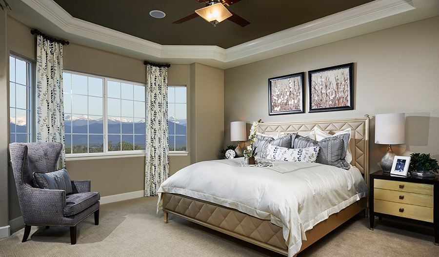 Master bedroom in the Daniel floor plan