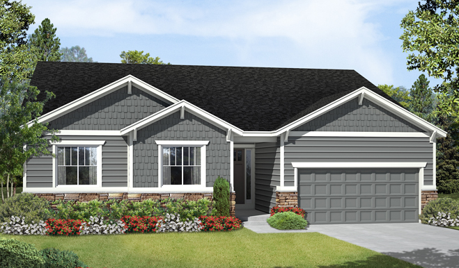 The daniel elevation a for Richmond homes ranch floor plans