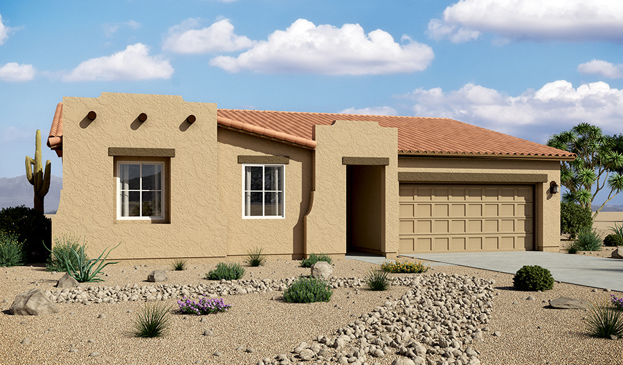 Exterior A of the Daniel floor plan in the Starr Ridge community