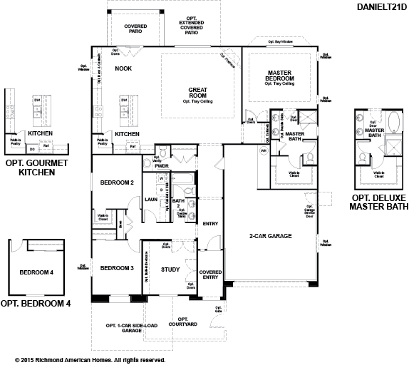 New homes in tucson az home builders in starr ridge for Richmond homes ranch floor plans