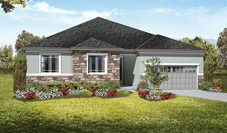 Exterior A of the Daniel floor plan in the Royal Farms community