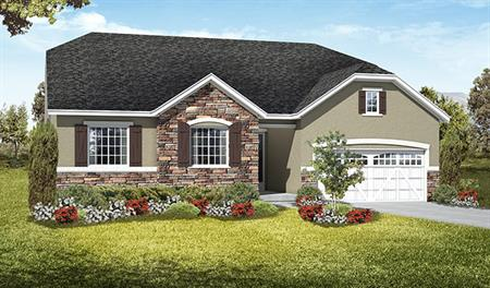 Exterior B of the Daniel floor plan in the Royal Farm community