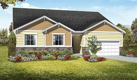 Exterior D of the Daniel floor plan in the Royal Farms community