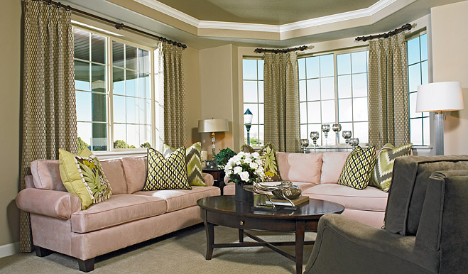 Living room in the Daniela floor plan