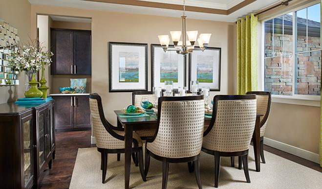 Dining room in the Daniela floor plan