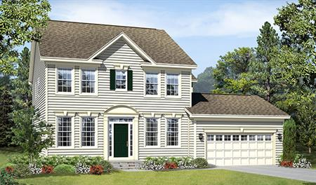 New home exterior A of the Daphne floor plan