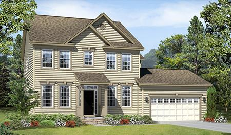 New home exterior B of the Daphne floor plan