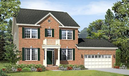 New home exterior C of the Daphne floor plan