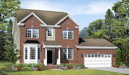 New home exterior D of the Daphne floor plan