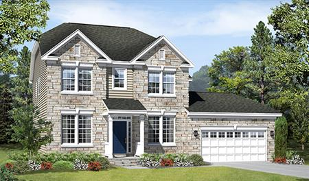 New home exterior F of the Daphne floor plan