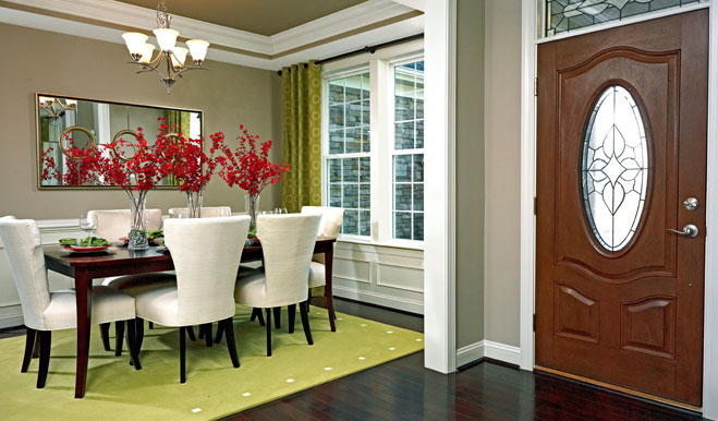 Dining room in the Darby floor plan