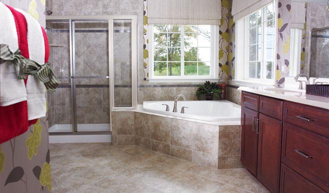 Master bathroom of the Darby floor plan