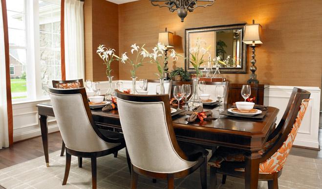 Dining room of the Darla floor plan