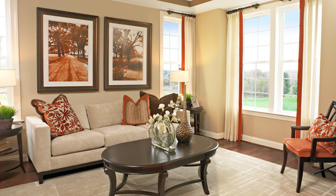 Sitting room in the Darla floor plan