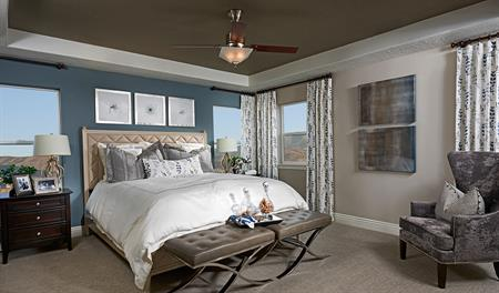 Master bedroom in the Darla floor plan