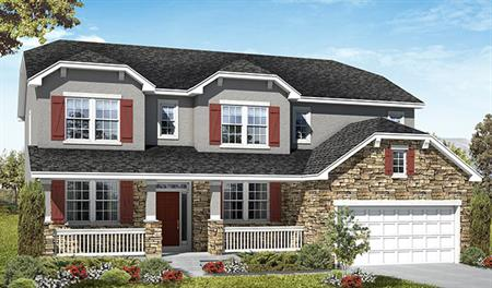 Exterior A of the Darla floor plan in the Three Forks community