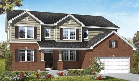Exterior B of the Darla floor plan in the Three Forks community