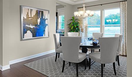 Dining room of the Dayton floor plan
