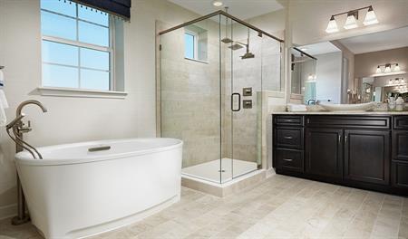 Master bathroom of the Dayton floor plan