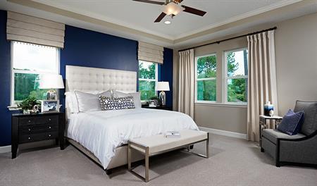 Master bedroom in the Dayton floor plan