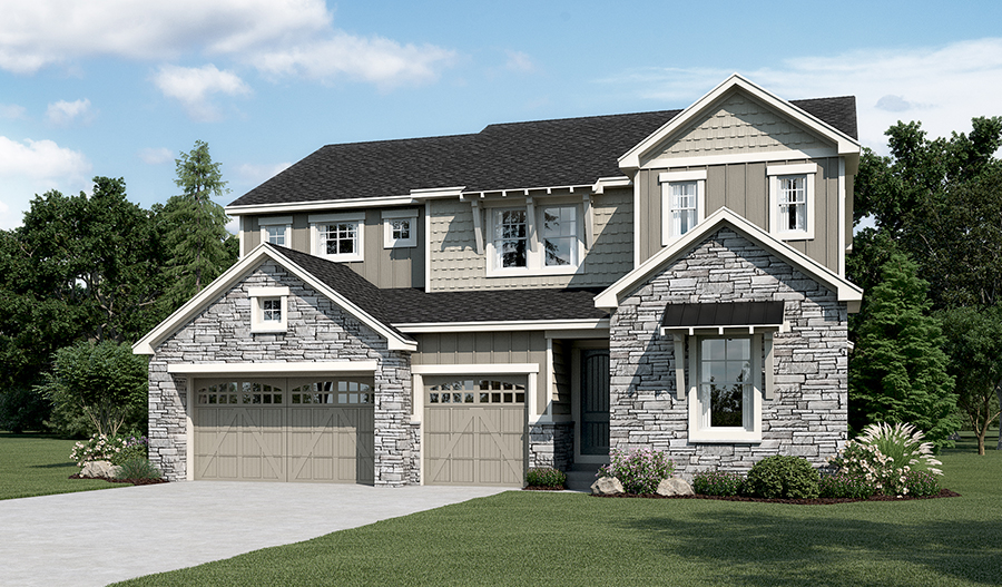 Dayton floor plan at forest trace richmond american homes for Richmond house plan