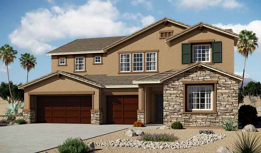 Exterior B of the Dayton floor plan in the Granite Falls community