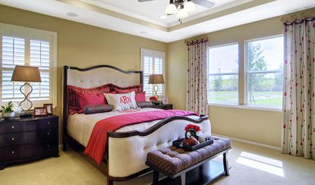 Master bedroom in the Delaney floor plan