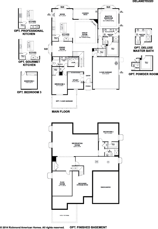 Delaney floor plan at sunset mesa west American west homes floor plans